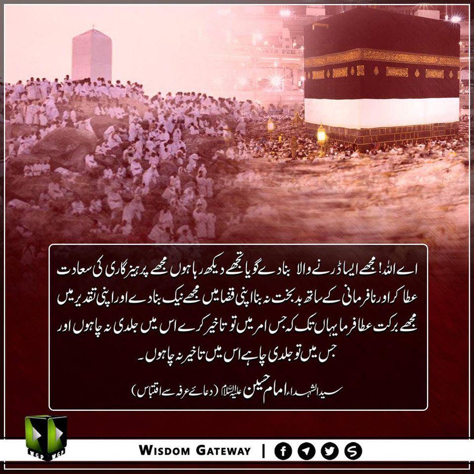 سید الشہداء امام حسینؑ دعائے عرفہ سے اقتباس