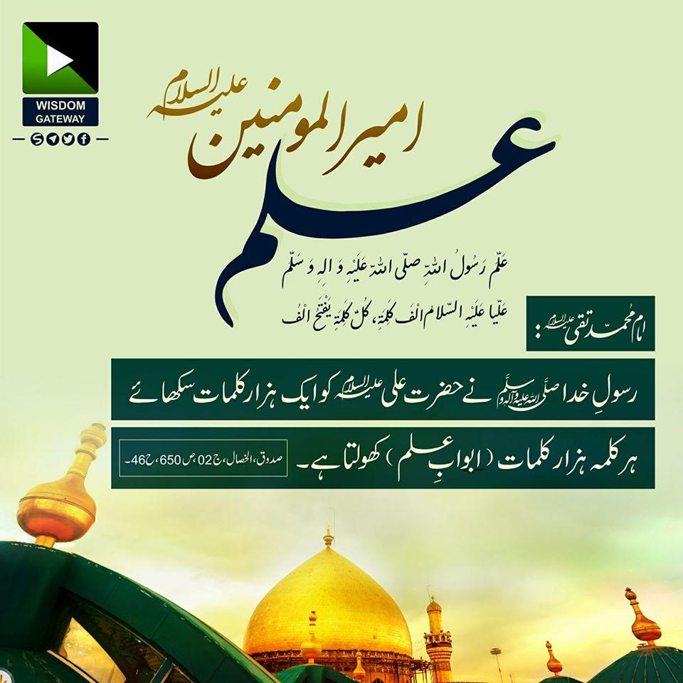 امام محمد تقی علیہ السلام  نے فرمایا: