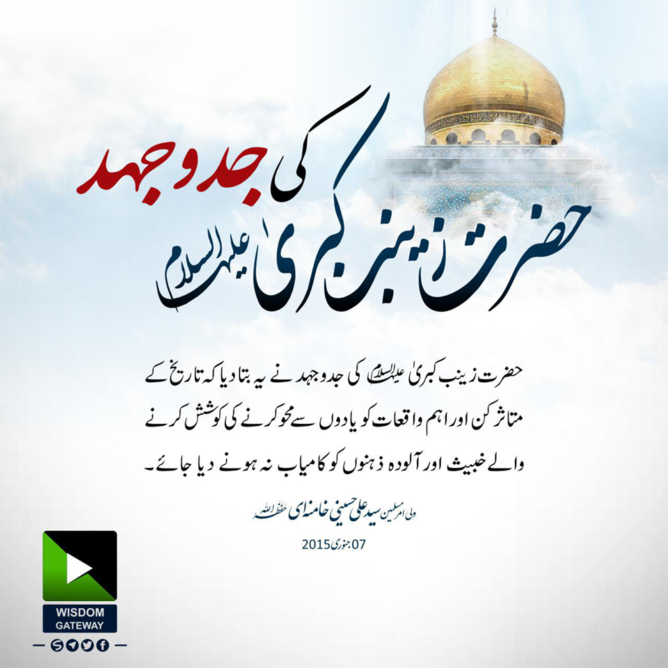 حضرت زینب کبریؑ کی جدوجہد