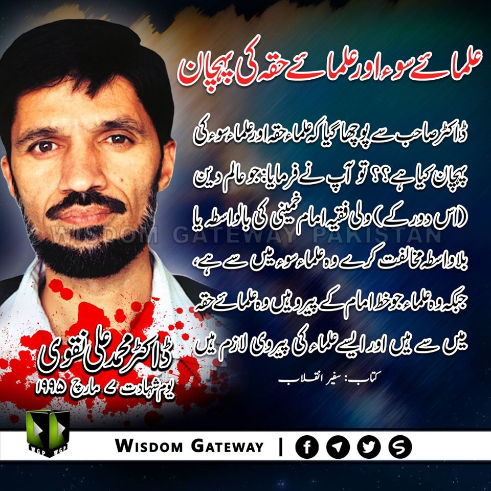 شہید ڈاکٹر محمد علی نقوی یوم شہادت
